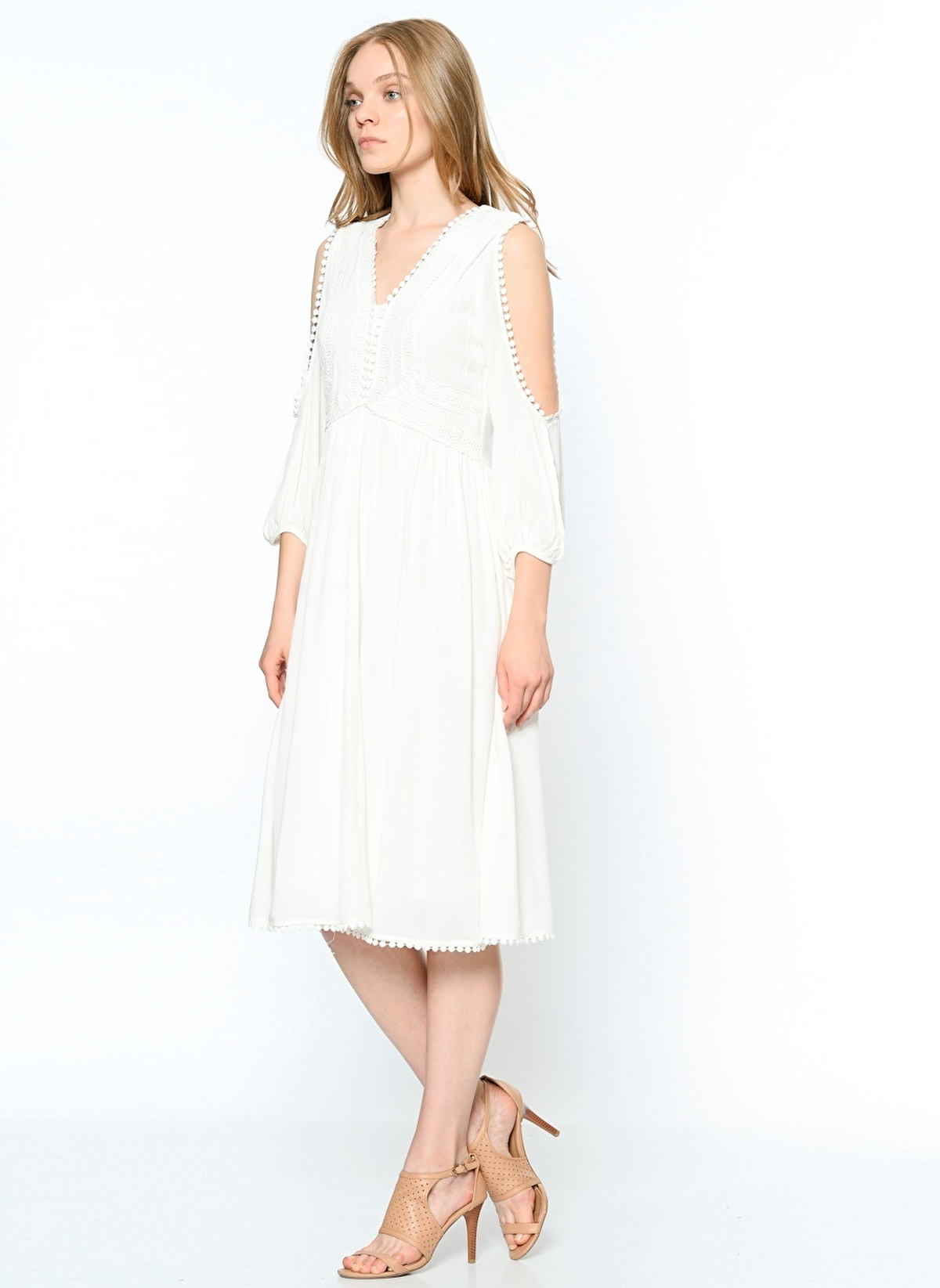 e892a687b1491 Koton Kadın Açık Omuz Detaylı Elbise Off Whıte | Morhipo | 19032616